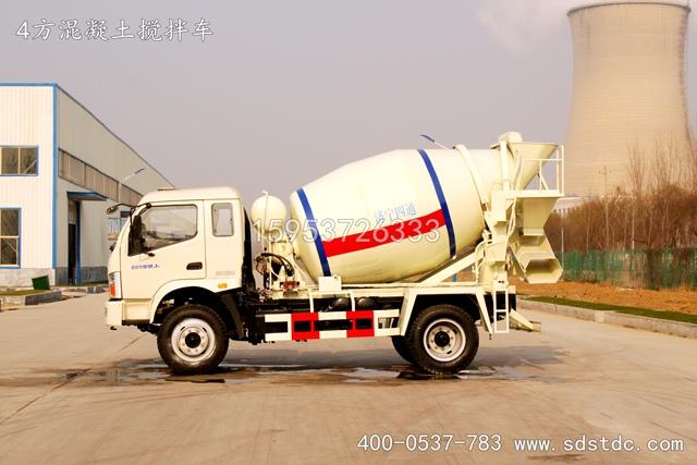 4方小型混凝土搅拌车价格 小型混凝土搅拌车图片(图文)